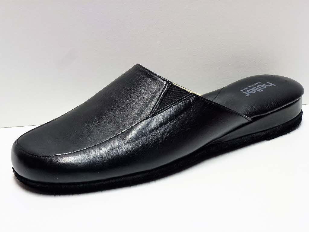 Tailles 40-47 FMA comfort for you Chaussons en Cuir pour Hommes 2 Semelles en Cuir et Feutre Chaussons pour la Maison avec Semelles orthop/édiques Souples